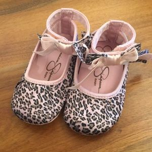 Jessica Simpson Pink leopard print Mary Janes!
